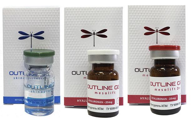 аутлайн гель с гиалуроновой кислотой