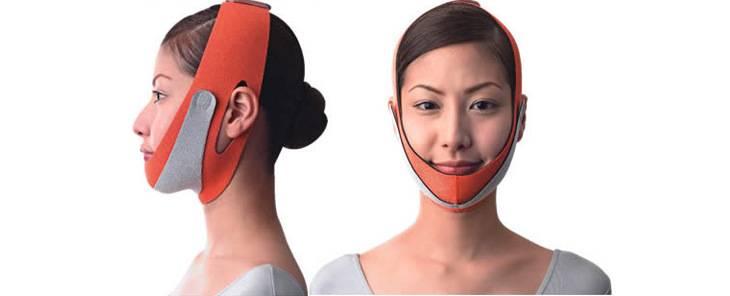 подтягивающая маска-бинт для шеи и подбородка